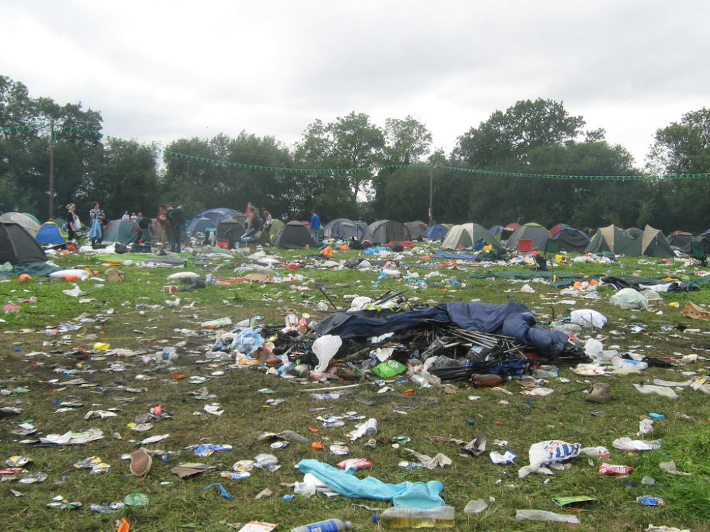 reading festival aftermath